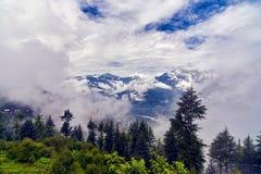 Sikt av den Kulu dalen Arkivbilder