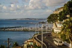 Sikt av den lägre staden, Salvador, Bahia, Brazi arkivfoton