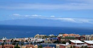 Sikt av den LaGomera ön, Tenerife, kanariefågelöar Royaltyfria Foton
