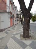 Sikt av den lappade gatan Arkivbilder