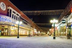 Sikt av den lilla svenska staden Arkivbilder