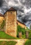 Sikt av den Ljubljana slotten, Slovenien Arkivfoto
