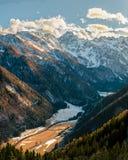Sikt av den Logar dalen arkivfoton