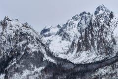 Sikt av den Lomnicky maximumhöjden 2634 M och andra höga Tatras berg Arkivbilder