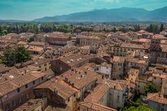 Sikt av den Lucca staden, Italien Royaltyfri Foto