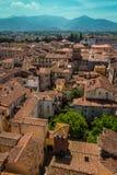 Sikt av den Lucca staden, Italien Fotografering för Bildbyråer