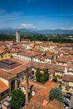 Sikt av den Lucca staden, Italien Arkivbild