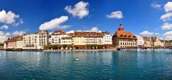 Sikt av den Lucerne townen Royaltyfria Foton