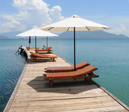Sikt av den lyxiga semesterorten på Phan Thiet Royaltyfri Foto
