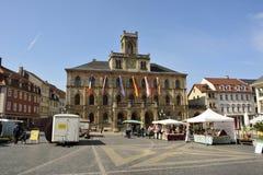 Sikt av den Markt fyrkanten i Weimar Fotografering för Bildbyråer