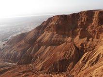 Sikt av den Masada - Judean öknen royaltyfri foto