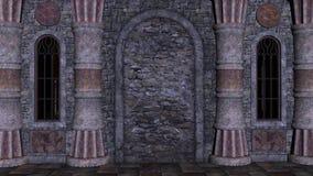 Sikt av den medeltida boningshuset bakifrån Royaltyfria Foton