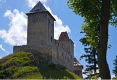 Sikt av den medeltida fästningen Royaltyfri Bild