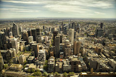 Sikt av den Melbourne staden Arkivfoto