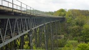 Sikt av den Meldon viadukten arkivbild