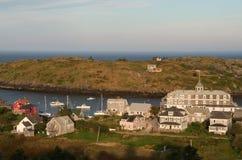 Sikt av den Monhegan ön Fotografering för Bildbyråer