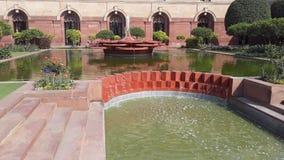 Sikt av den Mughal trädgården New Delhi royaltyfria bilder