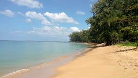 Sikt av den Nai Yang stranden, Phuket, Thailand royaltyfri foto