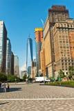 Sikt av den nya en World Trade Center Arkivbild