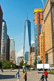 Sikt av den nya en World Trade Center Arkivbilder