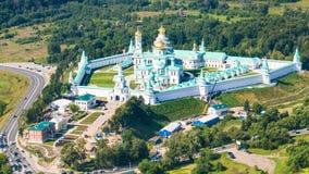 Sikt av den nya Jerusalem kloster i Moskvaregion Fotografering för Bildbyråer