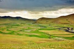 Sikt av den Orkhon dalen Royaltyfri Bild