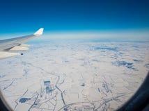 Sikt av den plana vingen Royaltyfria Bilder