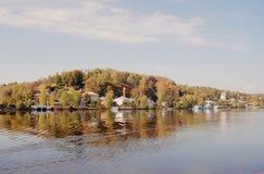 Sikt av den Ples staden, Ryssland Arkivfoton