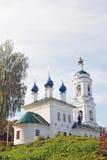 Sikt av den Ples staden, Ryssland Helgon Barbara Church Arkivfoto