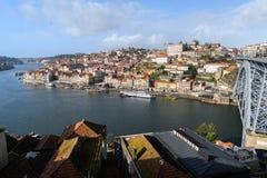 Sikt av den Porto staden i Portugal Royaltyfri Bild