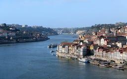 Sikt av den Porto staden i Portugal Royaltyfria Bilder