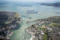 Sikt av den Portsmouth hamnen Royaltyfria Bilder