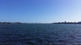 Sikt av den Portsmouth hamnen Royaltyfri Fotografi