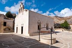 Sikt av den Preveli kloster crete greece ö Arkivbild