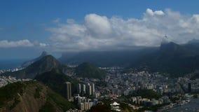Sikt av den Rio de Janeiro formöverkanten av kullen lager videofilmer