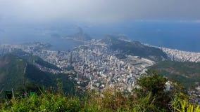 Sikt av den Rio de Janeiro formöverkanten av kullen stock video