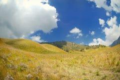 Sikt av den rullande kullen och änglandskapet Arkivfoto