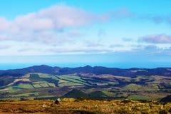 Sikt av den Santa Barbara kullen, Terceira, Azores Fotografering för Bildbyråer