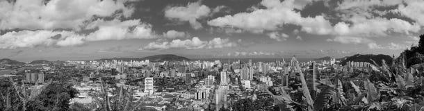 Sikt av den Santos staden Royaltyfria Bilder