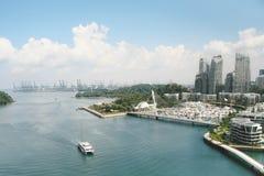 Sikt av den Sentosa ön Singapore fotografering för bildbyråer