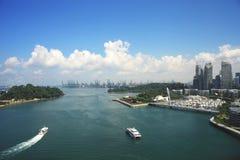 Sikt av den Sentosa ön Singapore royaltyfri foto