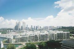 Sikt av den Sentosa öSingapore sikten av Sentosa Singapore royaltyfri foto