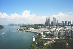 Sikt av den Sentosa öSingapore sikten av Sentosa Singapore royaltyfri fotografi