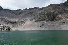 Sikt av den is- sjön för berg Royaltyfria Foton
