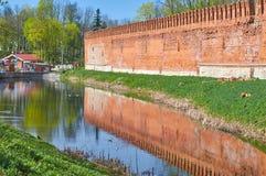 Sikt av den Smolensk fästningen, ointaglig bastion, pålitligt def Arkivbild