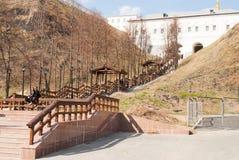 Sikt av den Sofia vzvozen kremlin tobolsk Arkivfoto
