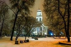 Sikt av den Spaso-Preobrazhensky domkyrkan Royaltyfria Bilder