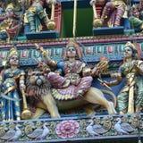 Sikt av den Sri Veeramakaliamman templet fotografering för bildbyråer