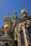 Sikt av den St Petersburg staden, Ryssland spilld kyrklig frälsare för blod Arkivfoton