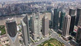 Sikt av den stads- platsen i Shanghai, Shanghai, Kina lager videofilmer